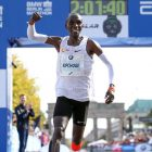 Kenyan long distance runner Eliud Kipchoge