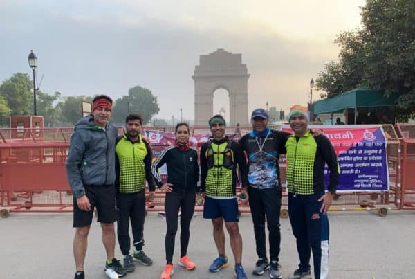 Running in Delhi on a 21k Run