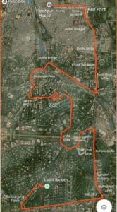 Route map for running in Delhi